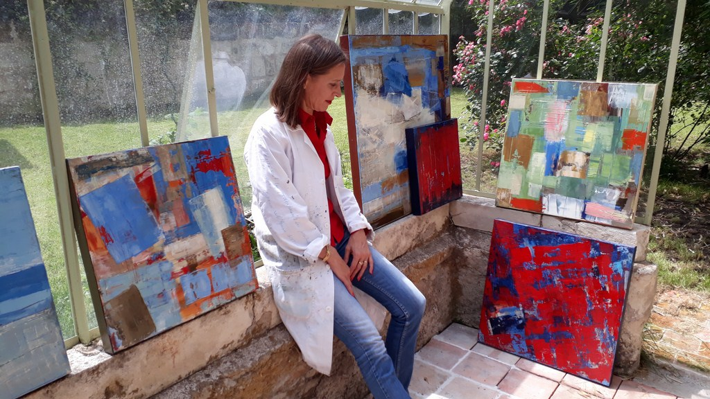 Priscille's painting workshop: in the glass house