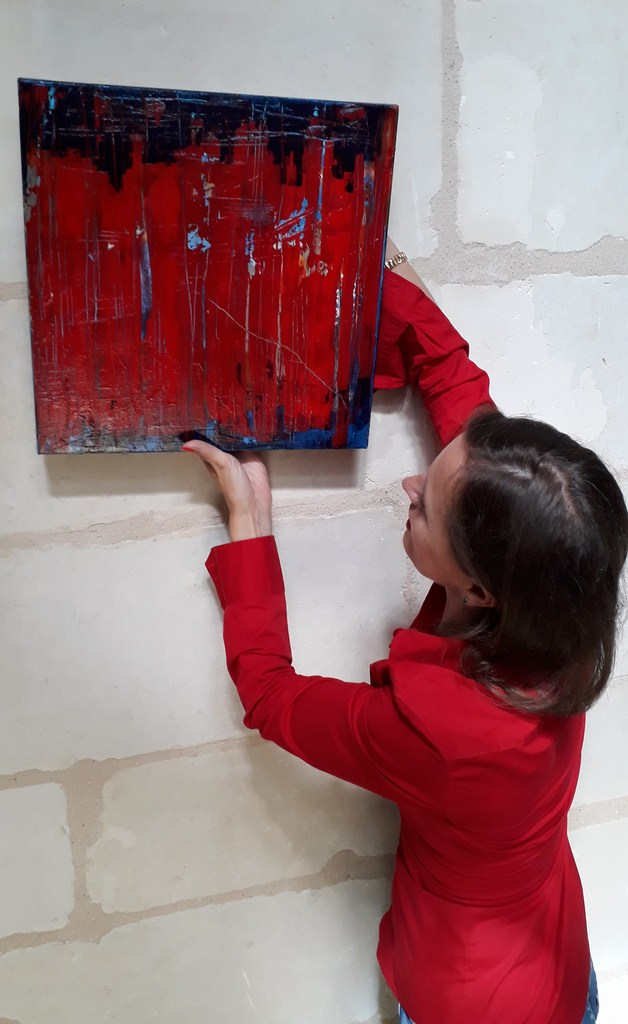 Priscille, ABSTRACTION painting live