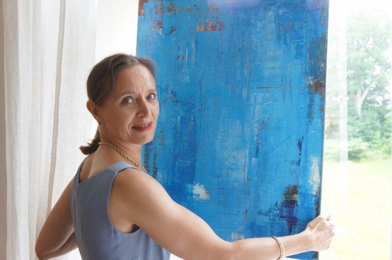 Priscille peinture PROMESSE vue parc chateau XVIII