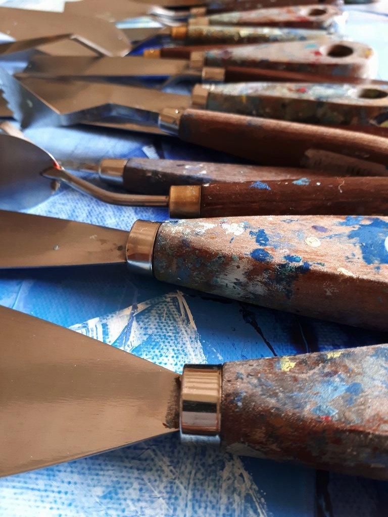 Atelier peinture spatules