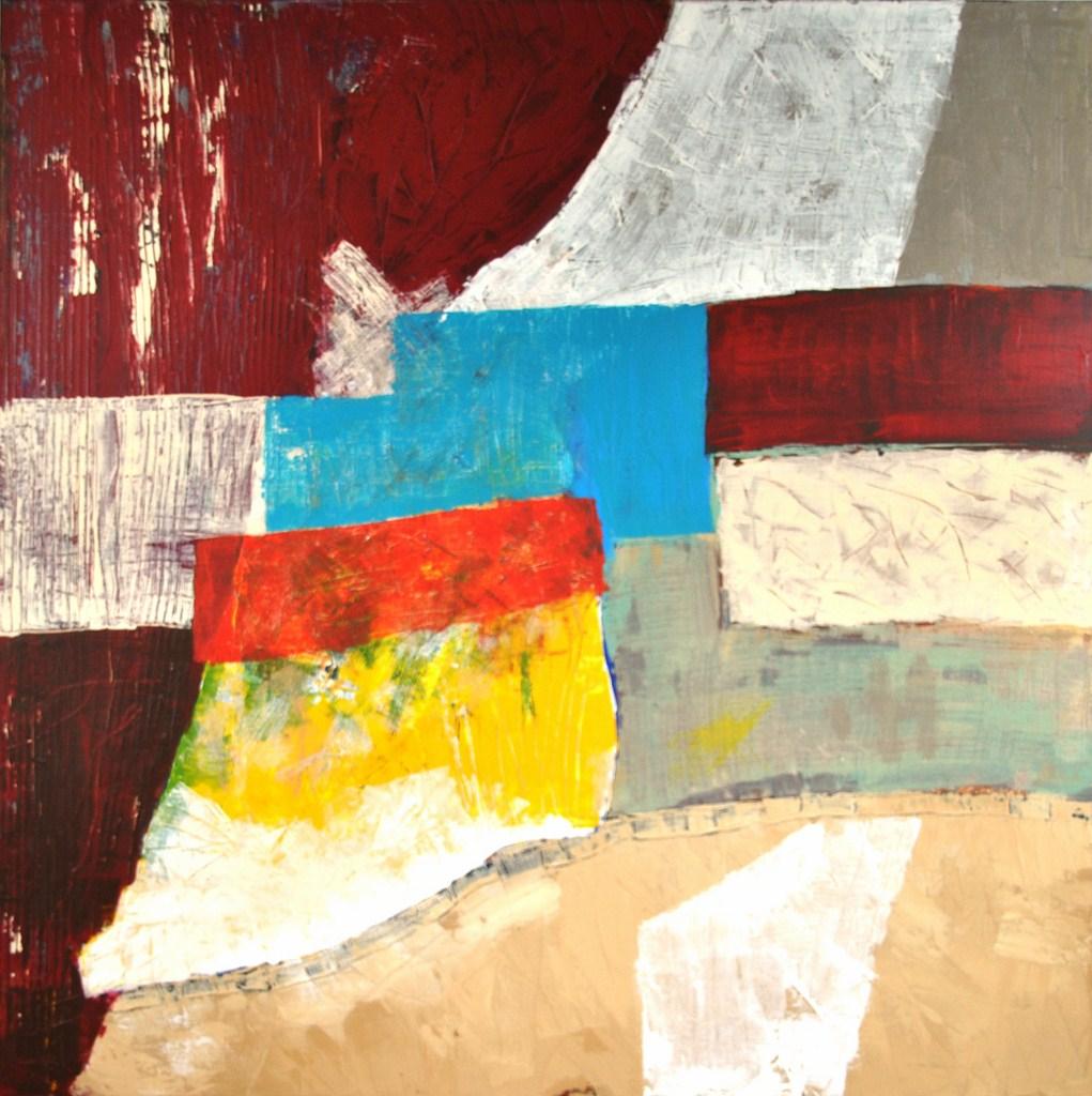AU PRE MARIE - Acrylique sur toile coton 79,5 x 79,5 cm - 2015