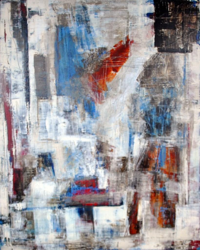 AURORE - Acrylique sur toile coton 100 x 80 cm - 2015