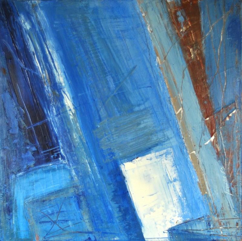 COMPOSITION BLEUE - Acrylique sur toile coton 50 x 50 cm - 2016