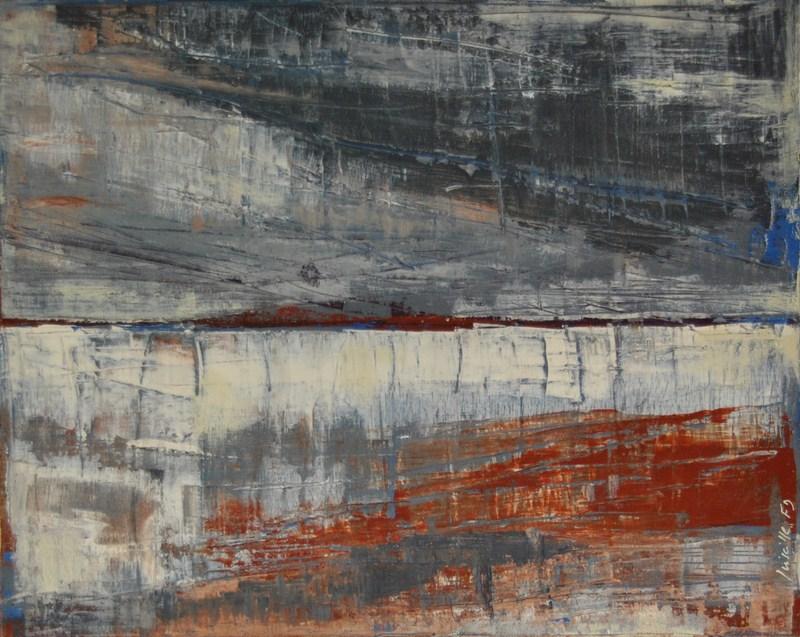 EN HIVER - Acrylique sur toile coton 40 x 50 cm - 2016