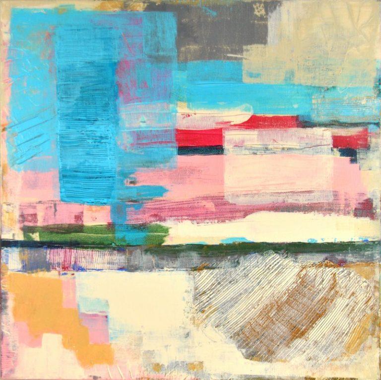 GUIMAUVE - Acrylique sur toile coton 50 x 50 cm - 2016