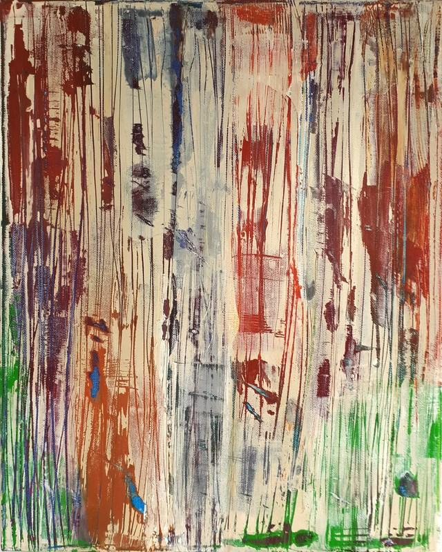 JARDIN D-ETE - Acrylique sur toile coton 50 x 40 cm - 2016