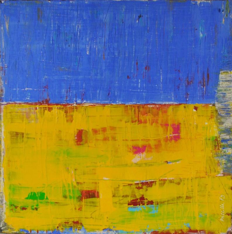 MARGUERITE - Acrylique sur toile coton 50 x 50 cm - 2015