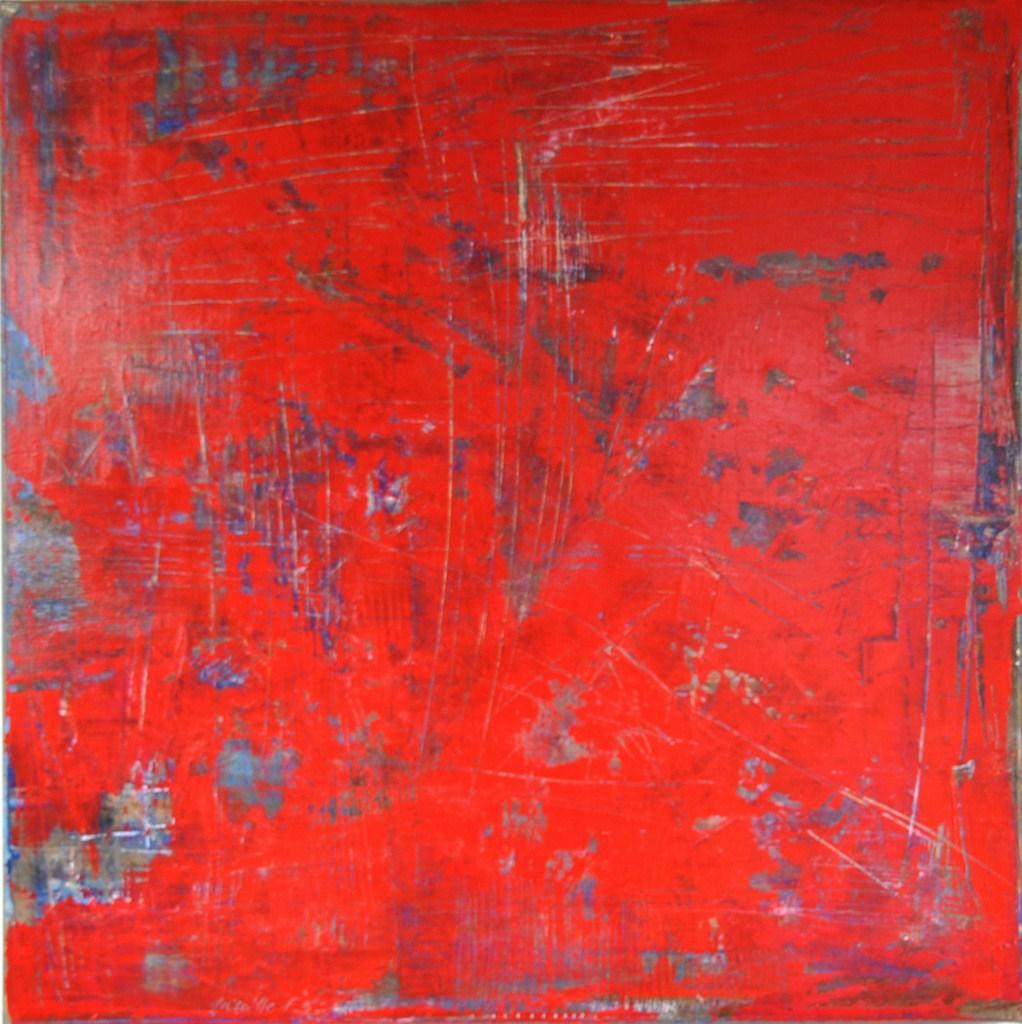 RUBIS - Acrylique sur toile coton 60 x 60 cm - 2016