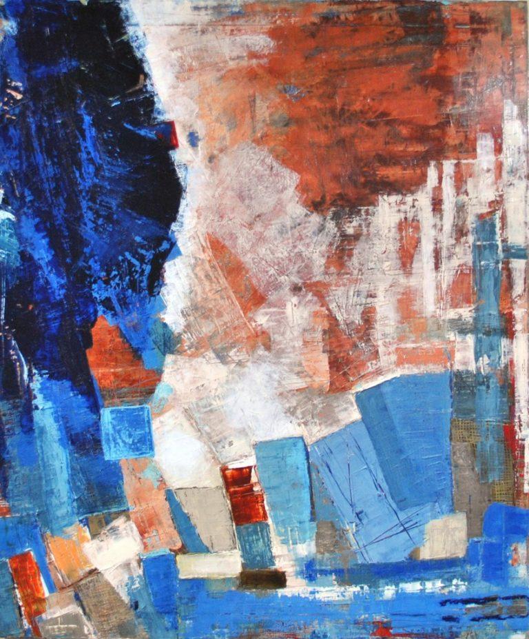 SOIR - Acrylique sur toile coton 120 x 100 cm - 2017