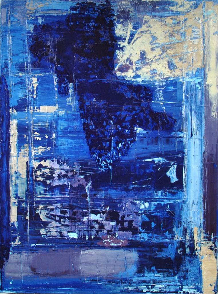 "BRIGHTNESS OF NIGHT - Acrylic on cotton canvas 31.5"" x 23.6"" - 2017"