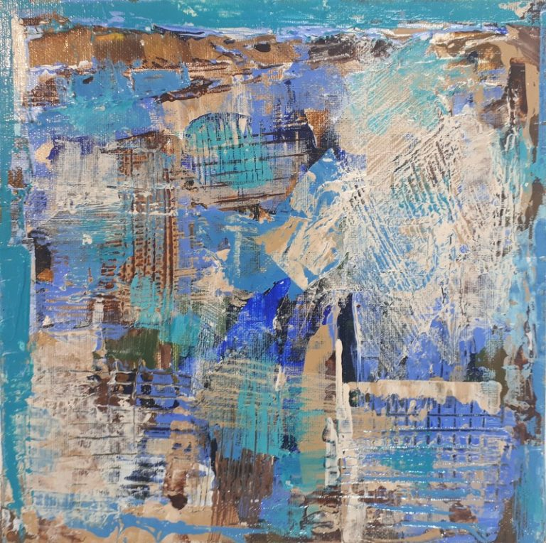 "CARD N°3 - Acrylic on canvas board 7.9"" x 7.9"" - 2017"