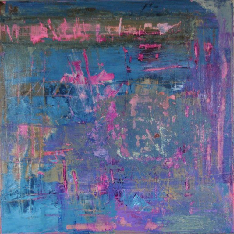"ECSTASY - Acrylic on cotton canvas 23.6"" x 23.6"" - 2017"