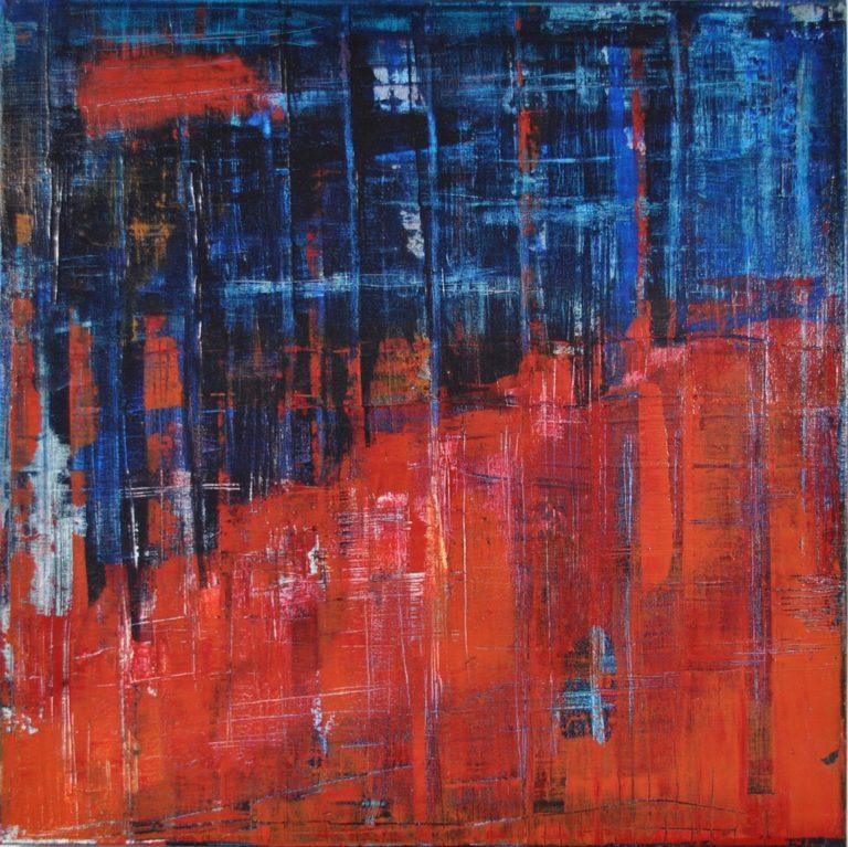 """FRANCE - Acrylic on cotton canvas 23.6"""" x 23.6"""" - 2016"""