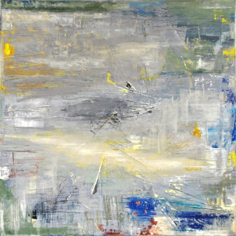"MIRROR - Acrylic on cotton canvas 23.6"" x 23.6"" - 2018"