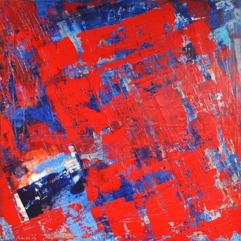 """PREAMBLE - Acrylic on cotton canvas 23.6"""" x 23.6"""" - 2016"""