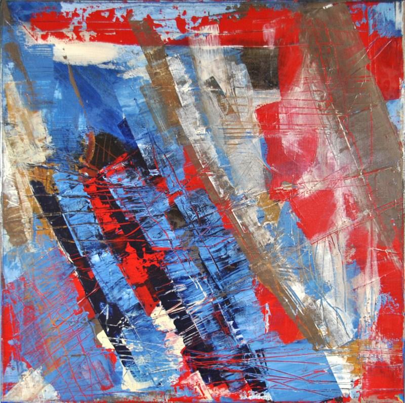 "RESONANCE - Acrylic on cotton canvas 19.7"" x 19.7"" - 2016"
