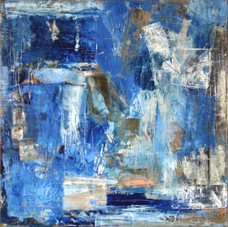 "SAINTE MARINE - Acrylic on cotton canvas 19.7"" x 19.7"" - 2017"