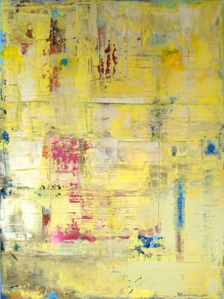 "SMILE - Acrylic on cotton canvas 31.5"" x 23.6"" - 2017"
